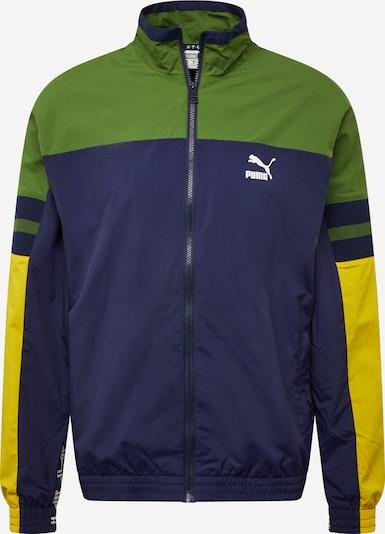 PUMA Jacke 'PUMA XTG' in dunkelblau / gelb / grün, Produktansicht