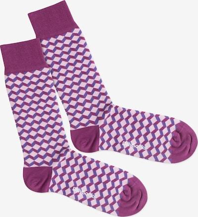 DillySocks Sokken 'Lila Dice' in de kleur Lila, Productweergave