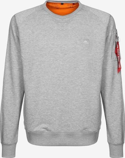 ALPHA INDUSTRIES Sweater 'X-Fit' in grau / orange, Produktansicht
