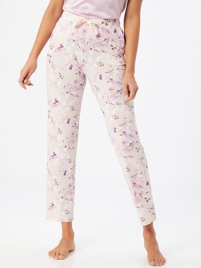SCHIESSER Spodnji del pižame | bež / temno liila / roza / pastelno roza barva: Frontalni pogled