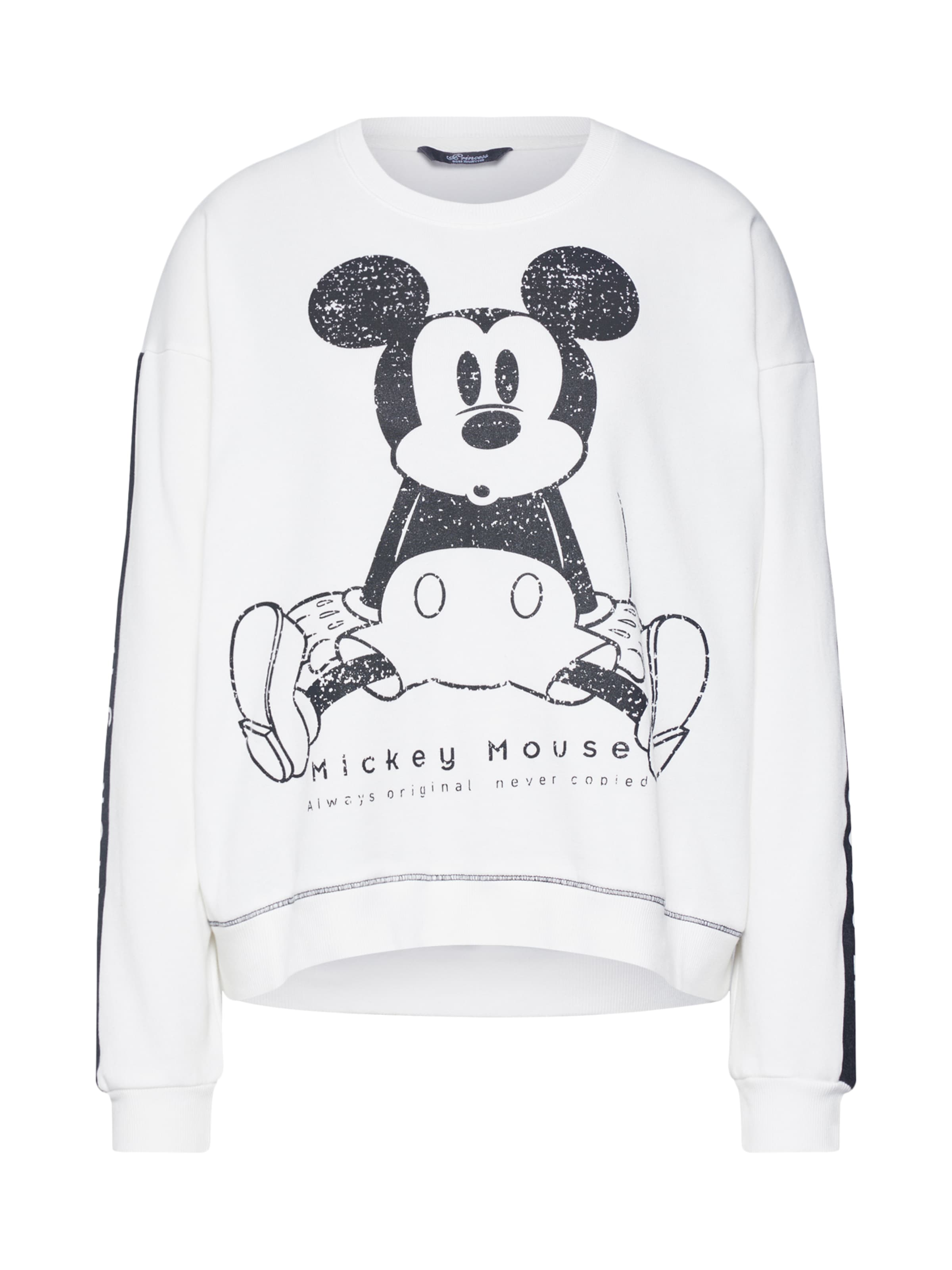 Goes 'mickey Astonished' Hollywood En Sweat Princess shirt AnthraciteBlanc WD9IYEH2