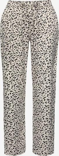 Pantaloni de pijama LASCANA pe ecru / negru, Vizualizare produs