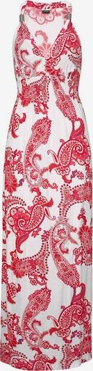 LASCANA Maxikleid in rot / weiß, Produktansicht