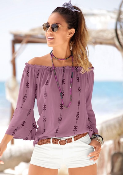 LASCANA Blouse in Purple, View model