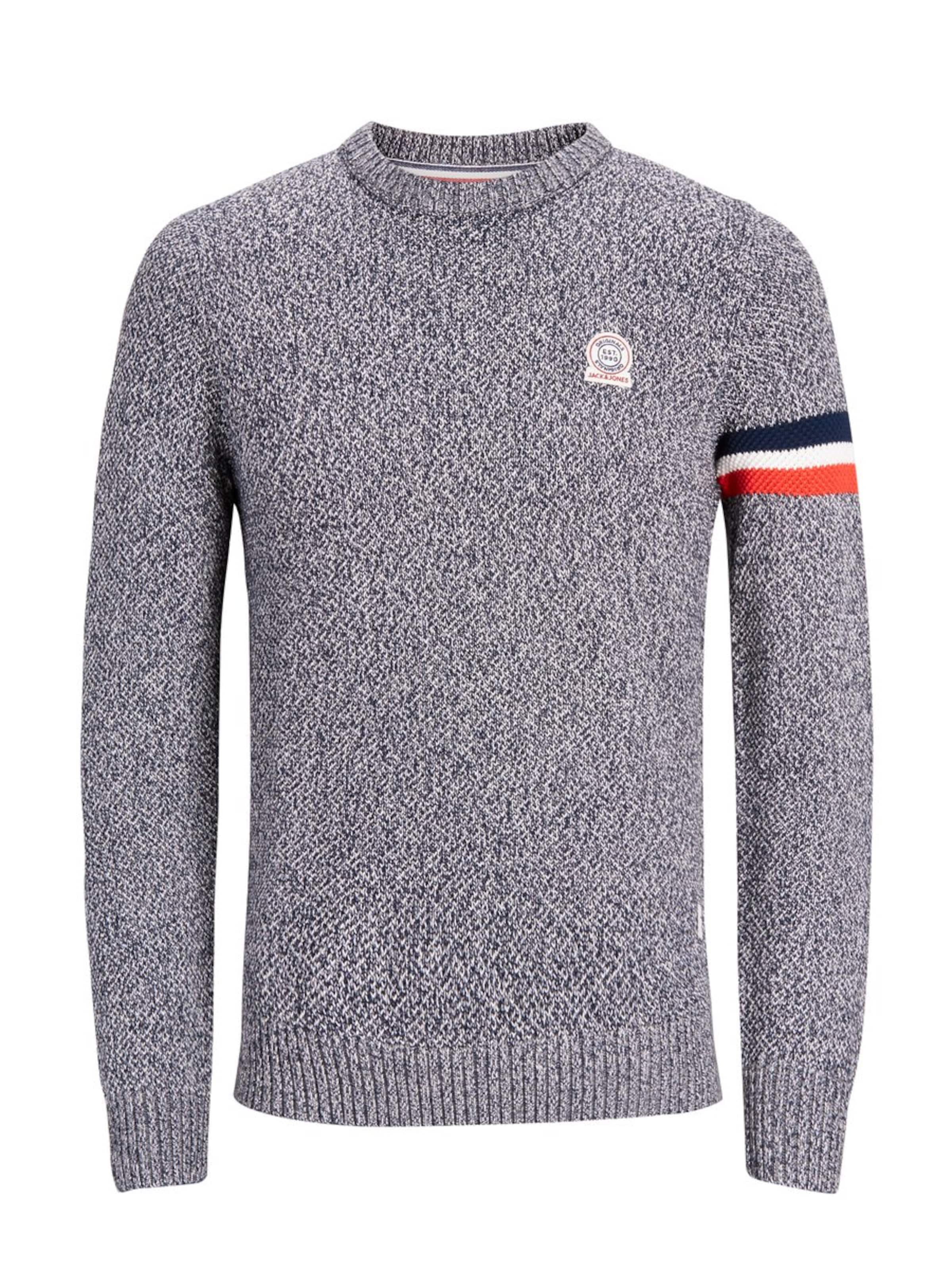 Pull Bleu Rouge MarineGris En Blanc Jones Chiné over Jackamp; 7mbYfgvIy6