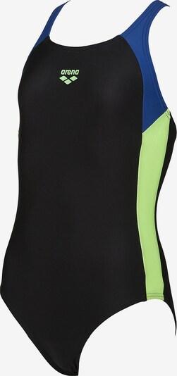 ARENA Badeanzug 'Ren' in saphir / pastellgrün / schwarz, Produktansicht