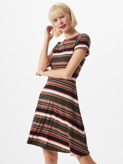 EDC BY ESPRIT Kleid in khaki / hummer / schwarz / weiß, Modelansicht