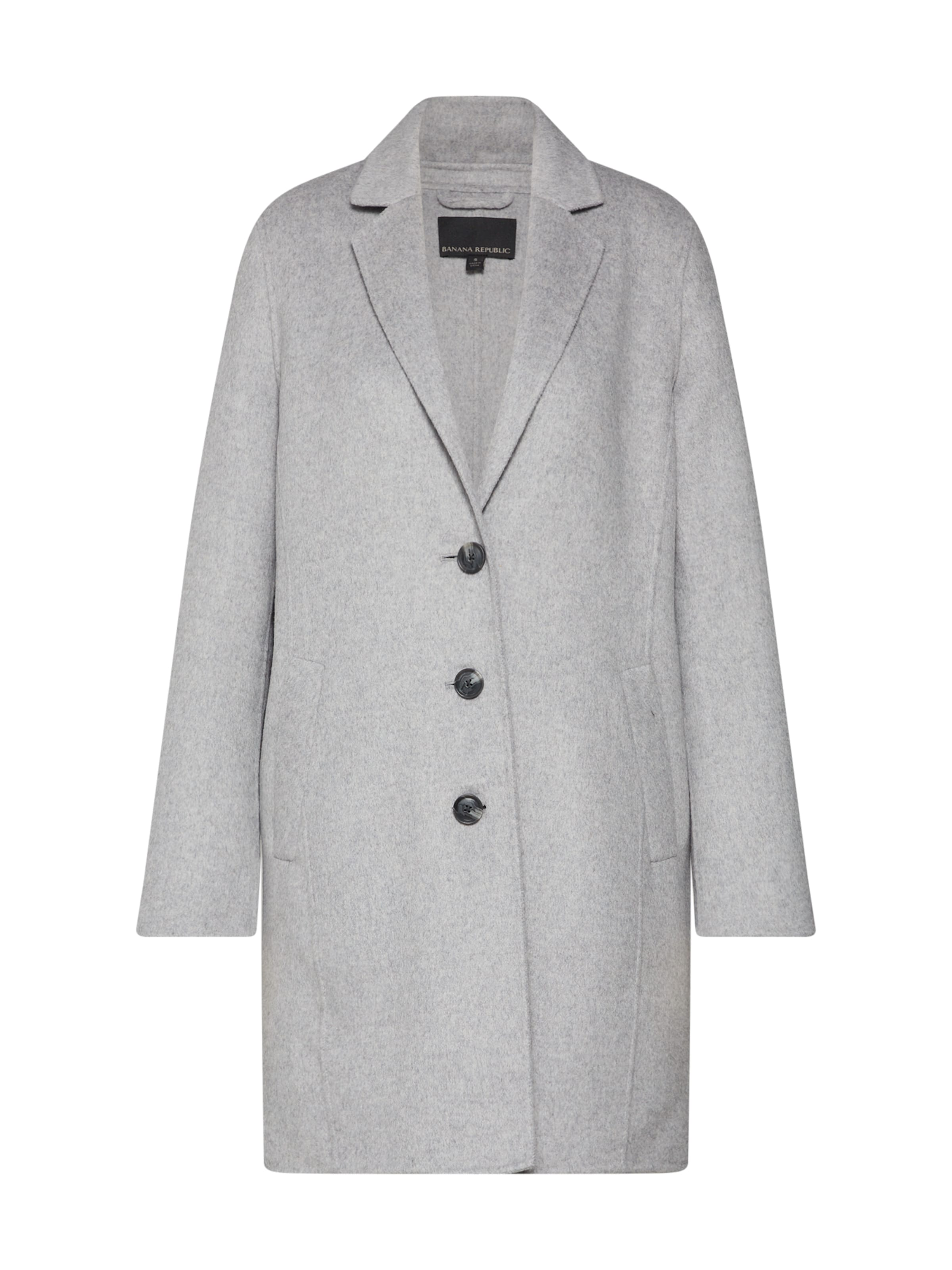 En Top Republic Banana saison 'double Manteau Face Coat' Chiné Mi Gris R543ALj