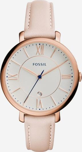 FOSSIL Armbanduhr in rosegold / puder, Produktansicht
