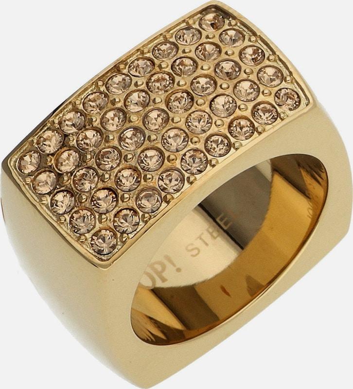 JOOP! Fingerring Edelstahl Gold Ella JPRG10627B