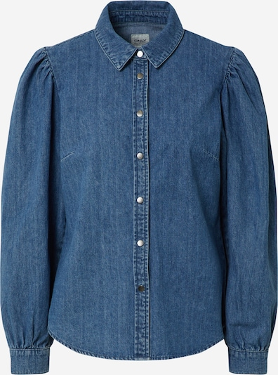 ONLY Bluse 'ROCCO' in blue denim, Produktansicht