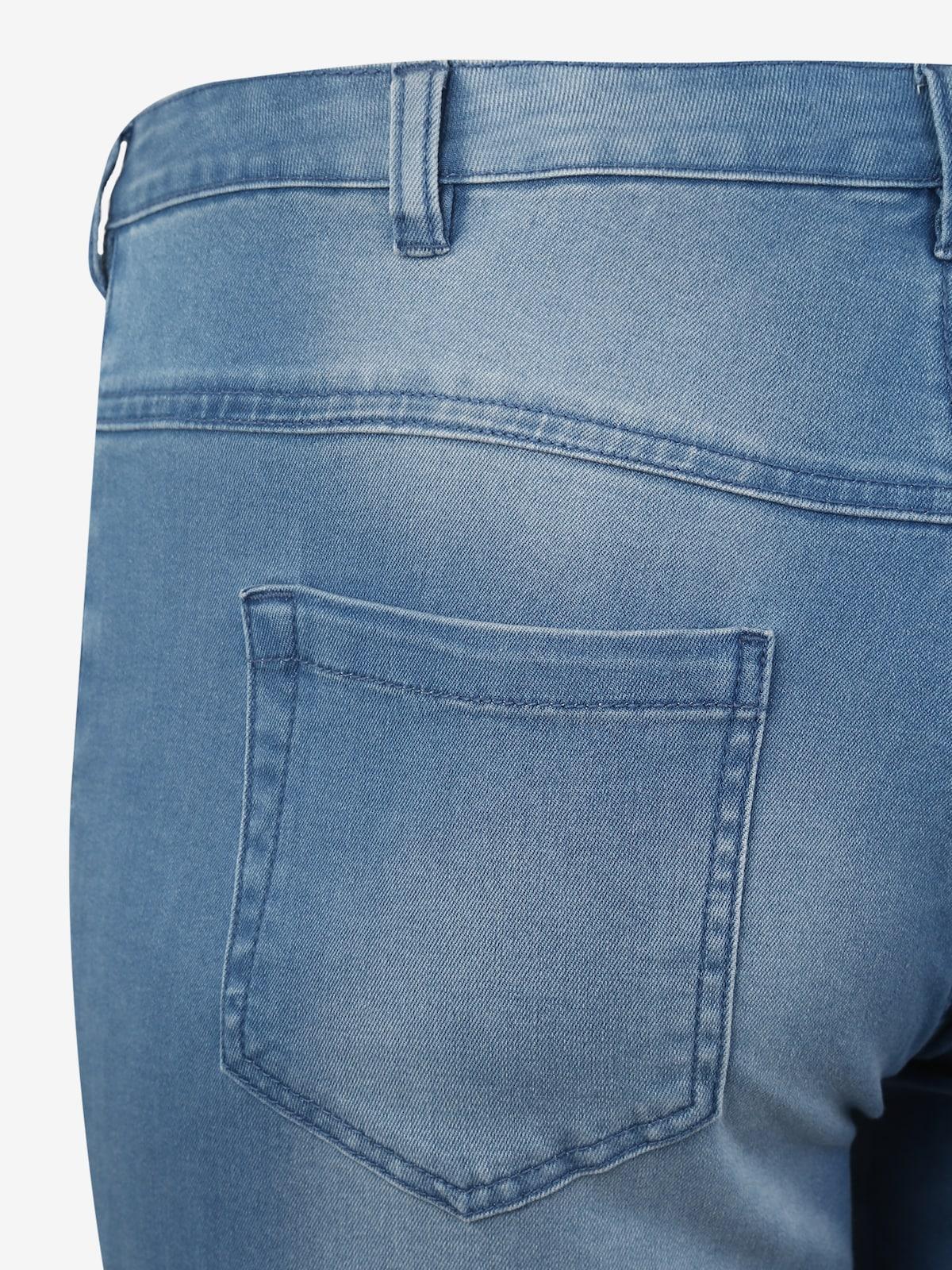 Beliebt Frauen Bekleidung Zizzi Hose 'EMILY' in blue denim Zum Verkauf