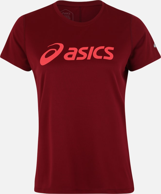 ASICS Shirt 'SILVER' in bordeaux: Frontalansicht