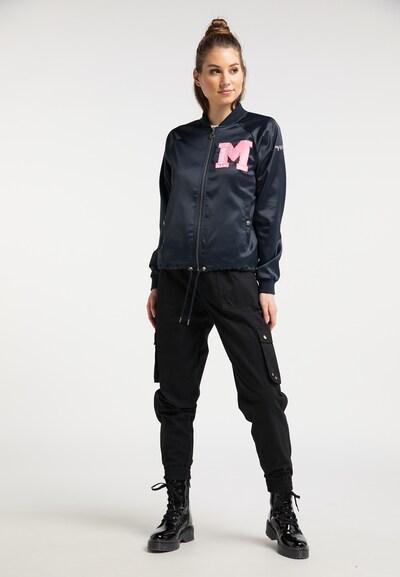 MYMO Prijelazna jakna u morsko plava / svijetloroza / vatreno crvena / bijela: Prednji pogled