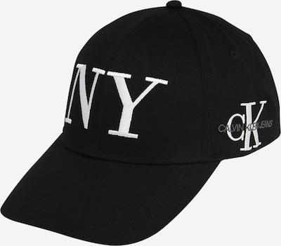 Calvin Klein Jeans Czapka z daszkiem 'NYCK' w kolorze szary / czarny / białym: Widok z przodu