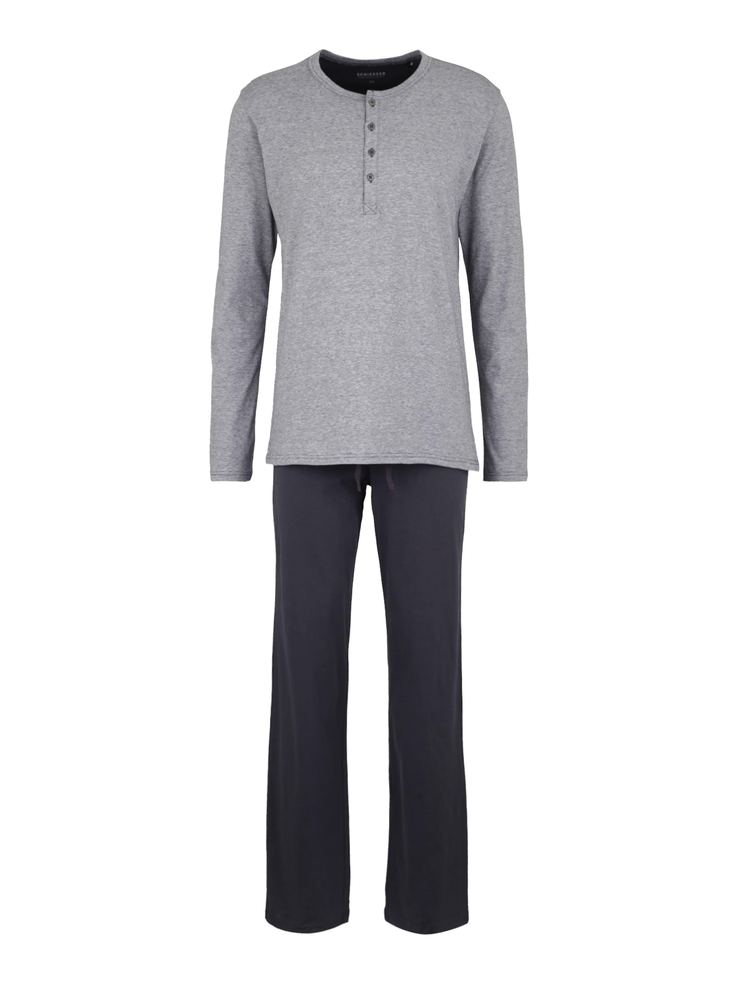 Pyjama Anthracite Schiesser En Pantalon De SzpqVMUG