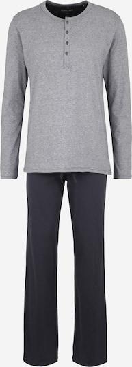 SCHIESSER Pitkä pyjama värissä harmaa / antrasiitti, Tuotenäkymä