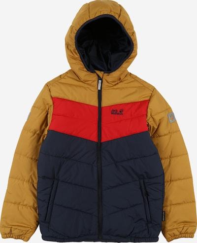 JACK WOLFSKIN Functionele jas 'Three Hills' in de kleur Marine / Goudgeel / Rood, Productweergave