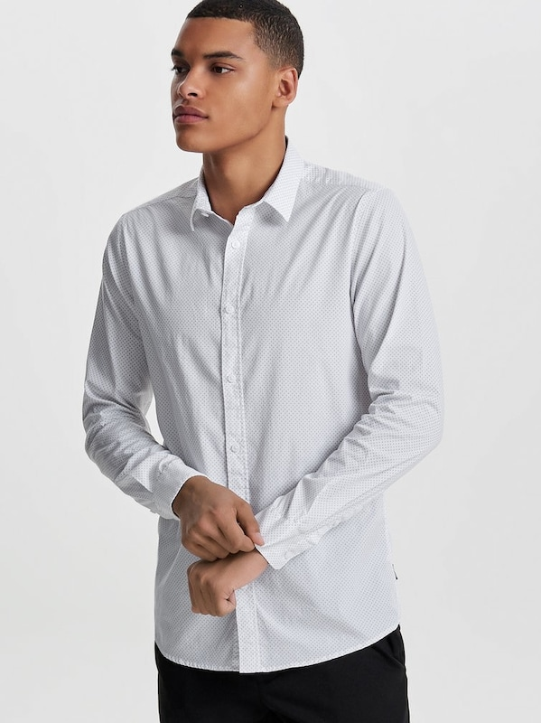 Only & Sons Langarmhemd Slim Fit