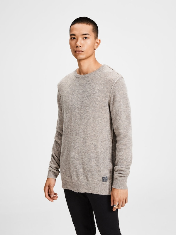 JACK & JONES Strickpullover Woll