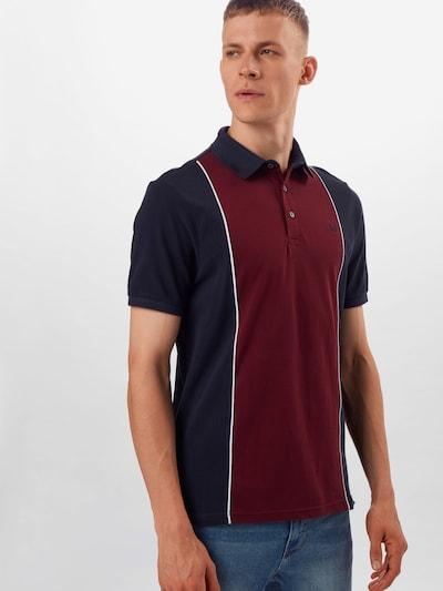 BURTON MENSWEAR LONDON T-Shirt 'Burgundy' en bleu marine / bourgogne: Vue de face