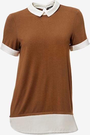 heine Rundhalsshirt in braun / weiß, Produktansicht