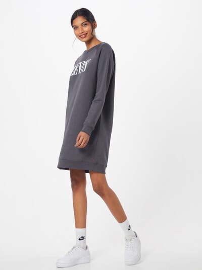 LEVI'S Kleid 'CREW SWEATSHIRT DRESS' in dunkelgrau, Modelansicht