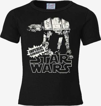 "LOGOSHIRT T-Shirt ""AT- AT"" in schwarz / weiß, Produktansicht"