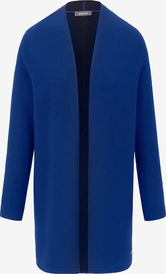 Basler Long-Strickjacke im modernen Style in blau, Produktansicht