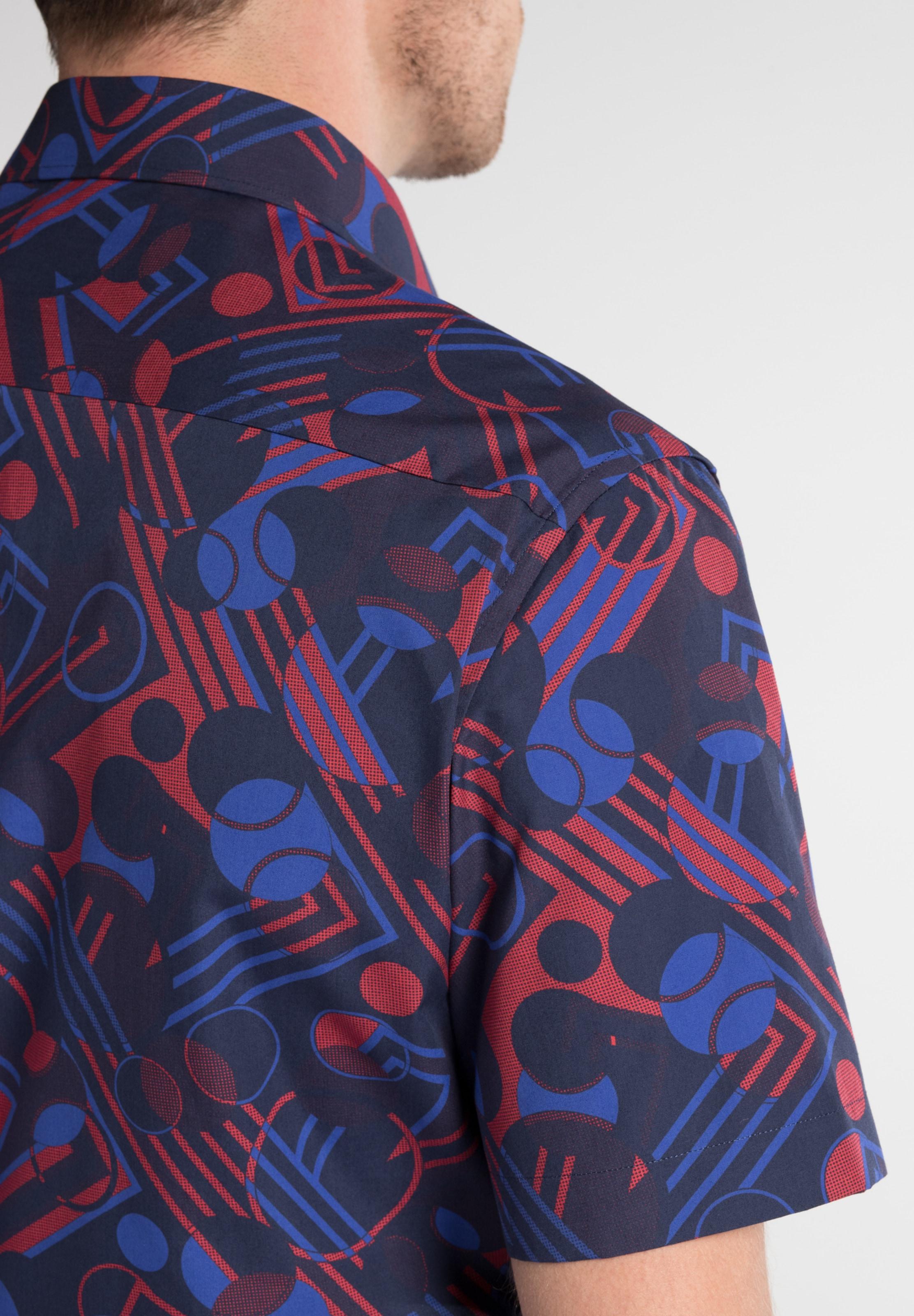 BlauDunkelblau Rot Eterna In Kurzarmhemd drWoQBCxe