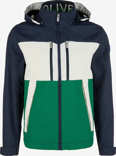 s.Oliver Übergangsjacke in grün / schwarz / weiß, Produktansicht