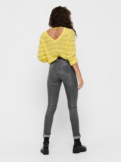ONLY Pullover in braun / gelb: Frontalansicht