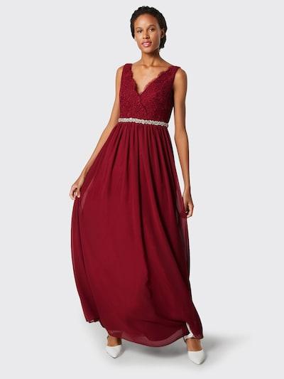 mascara Večerné šaty - vínovo červená, Model/-ka