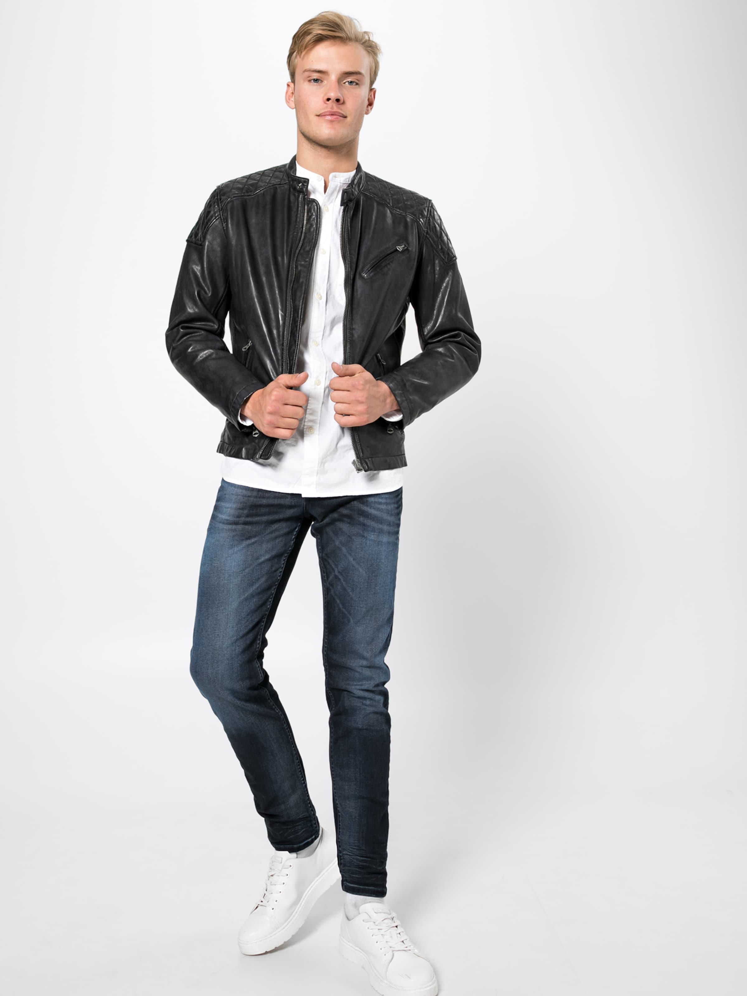 In Schwarz Pepe Jeans 'damascus' Lederjacke PXnN80wkO
