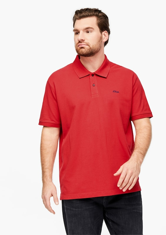 s.Oliver Poloshirt in rot: Frontalansicht