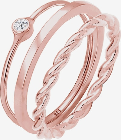 ELLI Ring Set in rosegold: Frontalansicht