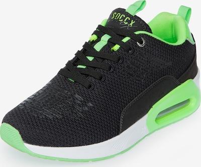 Soccx Sneaker in limette / schwarz, Produktansicht