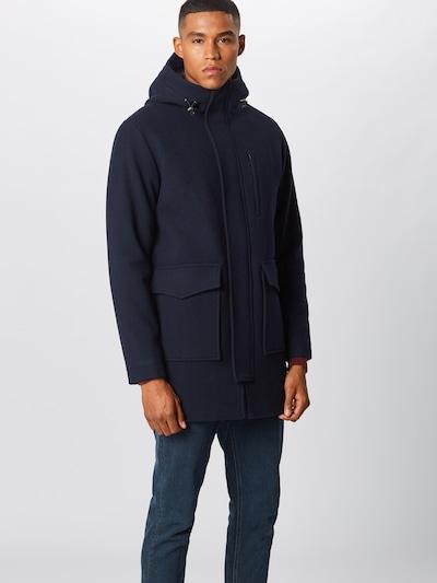 SELECTED HOMME Manteau d'hiver en bleu marine, Vue avec modèle