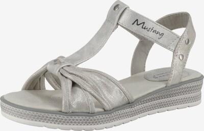 MUSTANG Sandale in silber, Produktansicht