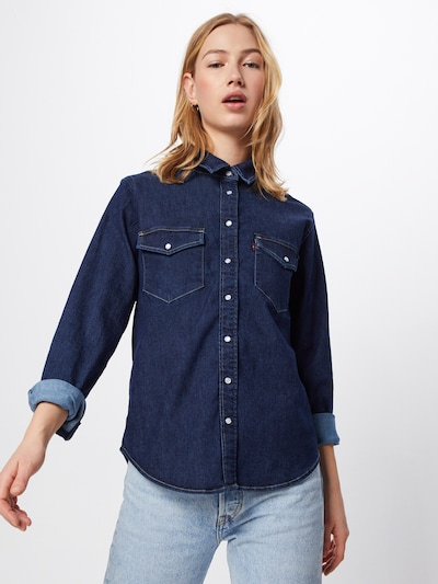 LEVI'S Hemd 'Essential Western' in blue denim, Modelansicht