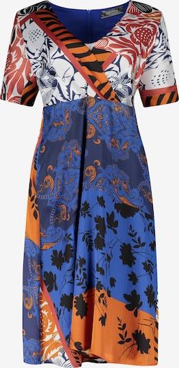 Nicowa Kleid 'Lelewa' in blau / dunkelorange / schwarz / weiß, Produktansicht