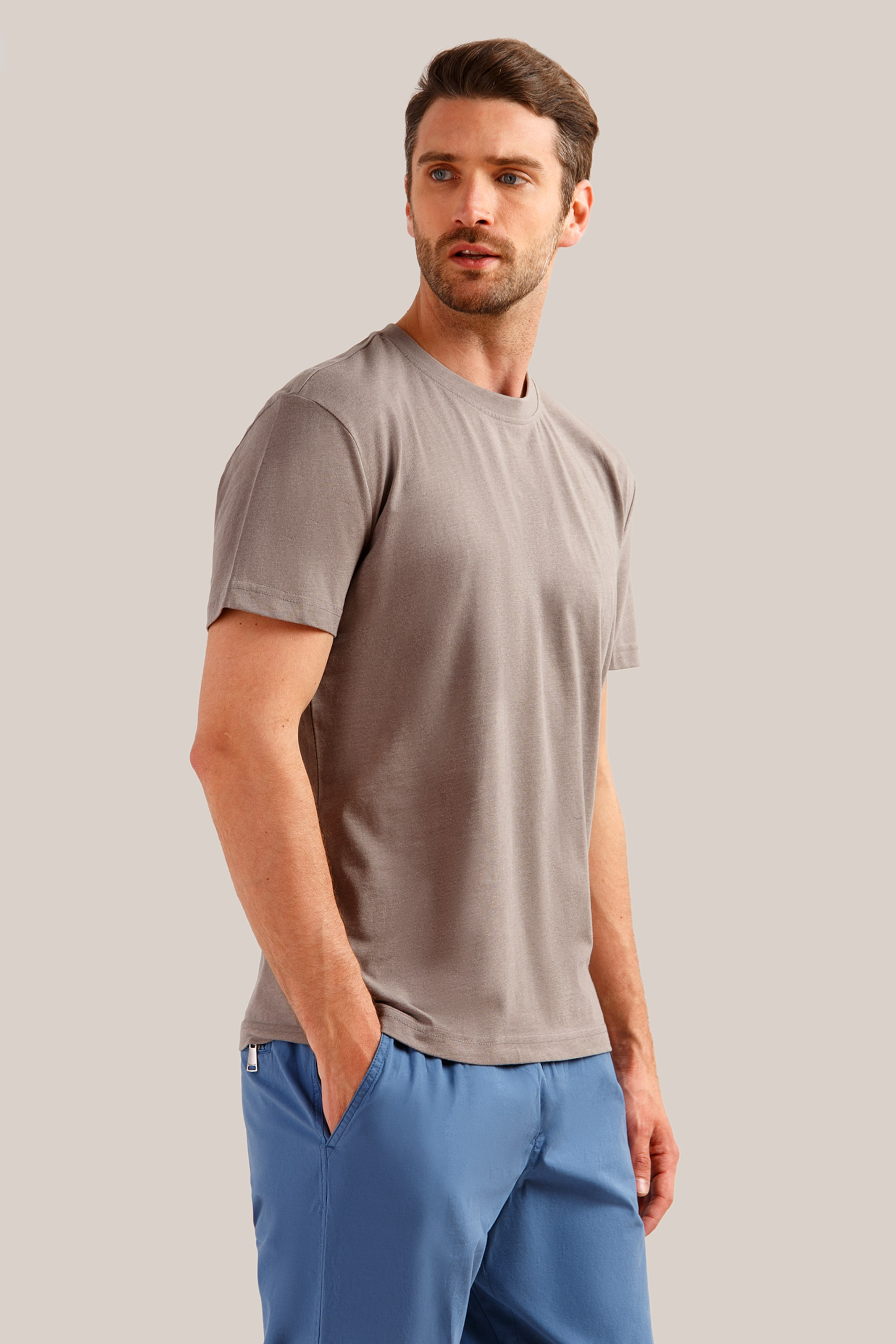 In Design shirt Finn Flare Basic Braun Klassischem Yb7gIfv6y