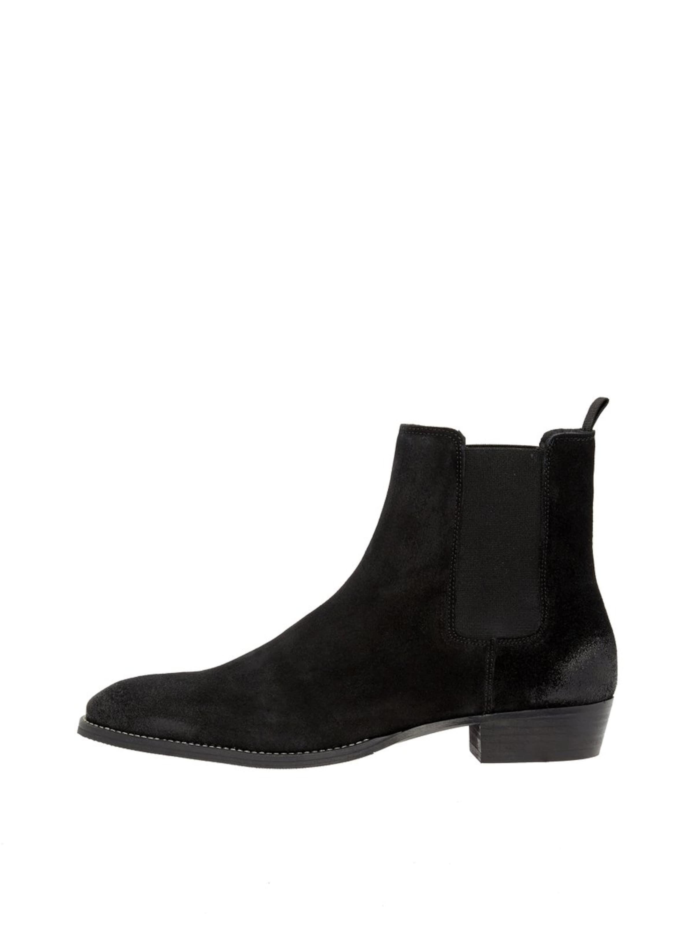 Chelsea Boots Bianco En Noir 'beack' CBoWdrex