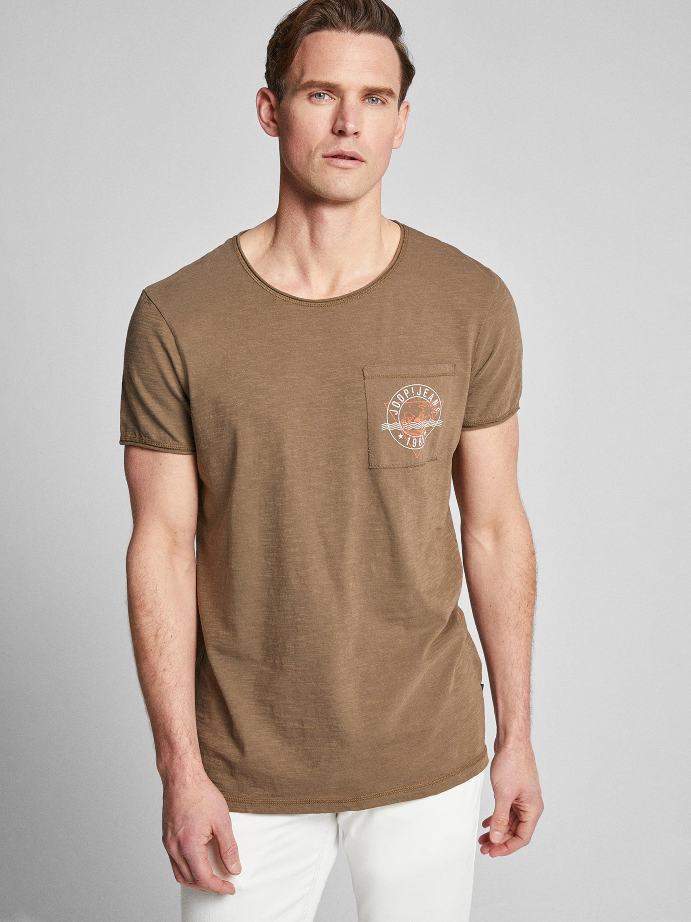 JOOP! Jeans T-Shirt  'Cain' in khaki Unifarben 7613429097594