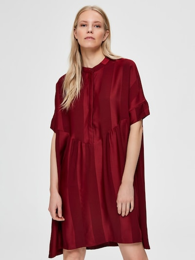 SELECTED FEMME Oversized jurk in de kleur Vuurrood, Modelweergave