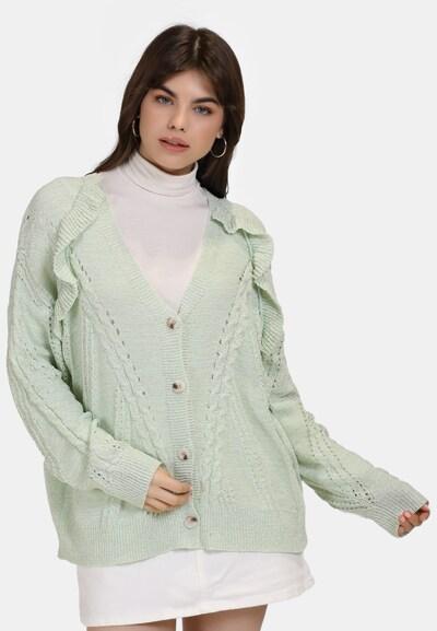 MYMO Strickjacke in grün / mint, Modelansicht