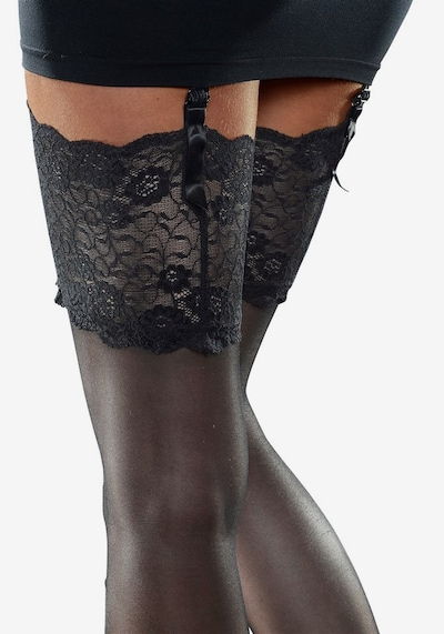 LASCANA Stockings with garters in Black, Item view