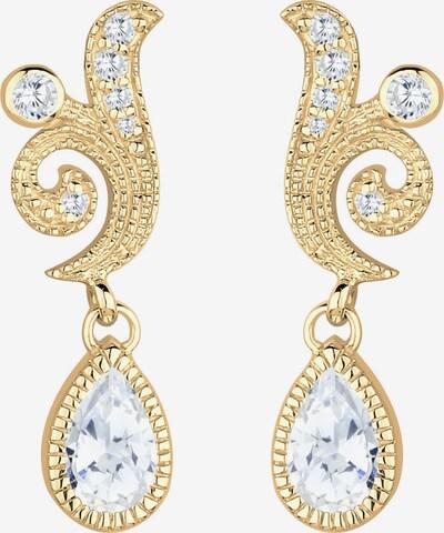 ELLI PREMIUM Ohrringe 'Kristall' in gold / weiß, Produktansicht