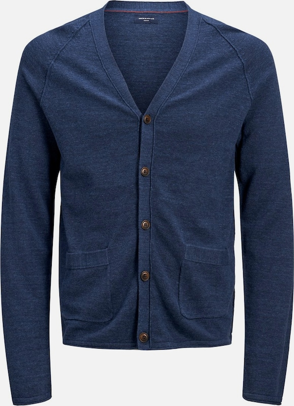 JACK & JONES Strickjacke in marine, Produktansicht