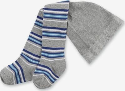 PLAYSHOES Strumpfhose in blau / grau: Frontalansicht